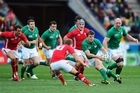 Action from the Ireland v Wales game. Photo / Getty Images