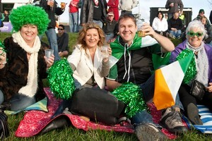 Their team may have lost but Ireland fans had a great time at Albany. Photo / Michelle Hyslop