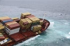 The stricken container ship Rena. Photo / Maritime New Zealand