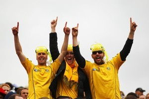 Wallabies fans. Photo / Getty Images