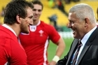 Welsh captain Sam Warburton with coach Warren Gatland. Photo / Getty Images