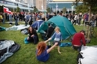 Protesters plan to stay in Aotea Square. Photo / Amos Chapple