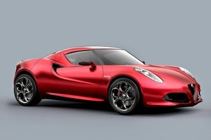 Alfa Romeo's concept 4C is likely to get the turbocharged 1.8-litre engine. Photo / Supplied