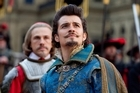 One for all Orlando Bloom is hard to take seriously with his silly hair-do in the latest version of The Three Musketeers. Photo / Supplied