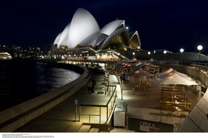 Opera Bar is perfectly positioned to enjoy the harbour lights. Photo / Supplied