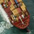 Aerial view of the container ship Rena. Photo / Alan Gibson