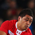 Toby Faletau of Wales offloads the ball as he is tackled by Thierry Duasautoir (L) and Maxime Mermoz of France. Photo / Getty Images