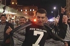 Despite some tense moments, there was plenty to celebrate for All Blacks fans at Party Central and the Viaduct in downtown Auckland after their Rugby World Cup win over Argentina.
