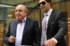 Boris Berezovsky - and minder - leave a London court last week. Photo / AFP