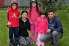 The Chumber family are due to find out soon whether they'll be deported to India. Photo / Hawke's Bay Today