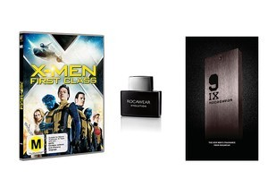You could win an X-Men prize pack that includes a DVD and two Rocawear fragrances.