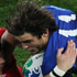 France's Alexis Palisson is challenged by Welsh player, Leigh Halfpenny. Photo / Greg Bowker