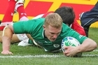 Keith Earls scored Ireland's only try but he also missed five of his eight tackle attempts. Photo / Mark Mitchell