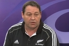 All Black assistant coach Steve Hansen says the side are coping well with the pressure ahead of Sunday's Rugby World Cup semifinal against Australia.