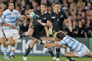 All Black Cory Jane in action against Argentina. Photo / Brett Phibbs