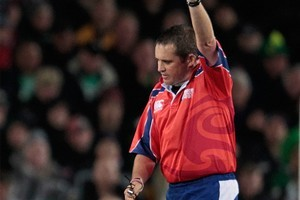 New Zealand referee Bryce Lawrence. Photo / Brett Phibbs