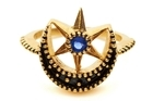 Matina Amanita 'Crescent Star' ring, $259, from Ruby Boutique. Photo / Supplied