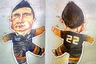 The Daily Telegraph's voodoo doll of All Black reserve Sonny Bill Williams. Photo / Twitpic