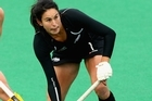 Kayla Sharland in action against Australia. Photo / Getty Images