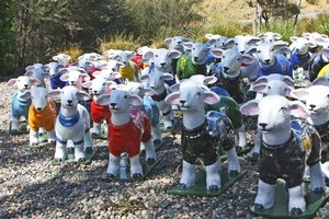 Sheep sculptures by Gregor Kregar at Brick Bay Sculpture Trail. Photo / Supplied