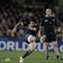 New Zealand All Blacks halfback Piri Weepu kicks a penalty against Argentina. Photo / Brett Phibbs