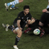 All Black Piri Weepu makes his move in the quarter-final against Argentina. Photo / Richard Robinson