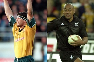 John Eales and Jonah Lomu were both heroes during Bledisloe Cup clashes in 2000. Photo / Getty Images