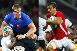 France and Wales clash tonight for the first time at a Rugby World Cup. Photo / NZ Herald