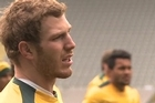 Players from the Australia Rugby Team are gearing up for their Rugby World Cup semi-final clash against the All Blacks and are hoping for the best during the match at Eden Park.