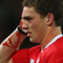George North of Wales leaves the field with blood pouring from a cut. Photo / Getty Images