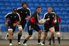 Aaron Cruden was among those taking part in the captain's run at Trusts Stadium before the final. Photo / Getty Images