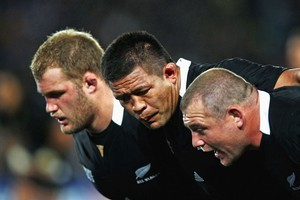 The All Blacks front row. Photo / Getty Images