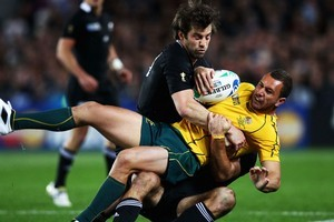 'Quade blooper strikes again' read the Sydney Daily Telegraph's website headline after the Wallabies' 20-6 semifinal loss to the All Blacks. Photo / Getty Images