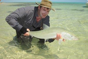 This bonefish came from a tropical lagoon, proving they do exist. Photo / Supplied