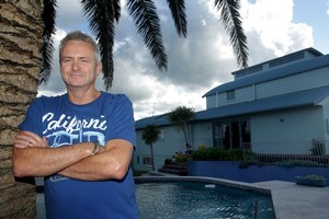 Dean Houghton is trying to sell his house which is a frisbee's throw away from Papamoa Beach. Photo / Alan Gibson