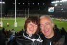 Hilary and Stephen Briggs at Eden Park. Photo / Supplied