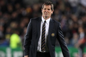 Australian coach Robbie Deans is backing the All Blacks to win the Rugby World Cup. Photo / Greg Bowker