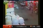 The graphic surveillance video of the incident on October 13 in Foshan city, Guandong province, shows a 2 year old girl run over by a van, which then drives off leaving her bleeding on a narrow street. Photo / supplied