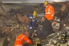 Emergency services search the rubble for survivors of the collapsed CTV building. Photo / Brett Phibbs