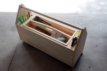 Making a wheeled toolbox like this one is an easy job for beginners. Photo / Herald on Sunday