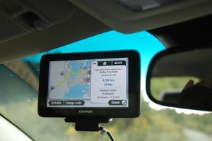 TomTom's Go Live 1050 alerts drivers to congestion. Photo / Jacqui Madelin
