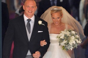 Zara Phillips and Mike Tindall during their wedding earlier this year. Photo / AP