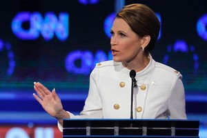 Republican presidential candidate Rep. Michele Bachmann speaks during a Republican presidential debate. Photo / AP