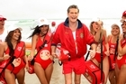 David Hasselhoff at the main Mount Beach earlier this year. Photo / Alan Gibson