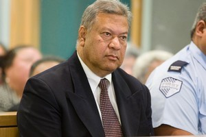 Former Cabinet Minister Taito Phillip Field during his sentencing on bribery and corruption charges at the Auckland High Court. Photo / Paul Estcourt