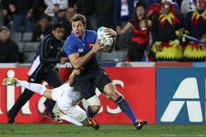 France's Vincent Clerc in action. Photo / Greg Bowker
