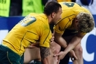 Australia's Quade Cooper (L) and James O'Connor shared their feelings on Twitter after the All Blacks forced them out of the Rugby World Cup. Photo / Dean Purcell