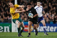 Kevin Mealamu of the All Blacks in action against Australia. Photo / APN 