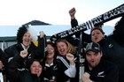 All Blacks fans show their support. Photo / Natalie Slade