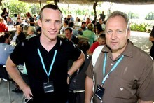 Xero chief executive Rod Drury (right) and backers such as board member Sam Morgan have a record of successful technology start-ups. Photo / Glenn Taylor